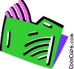 Vector Clip Art picture  of a File folder