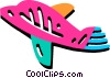 Vector Clip Art image  of a Commercial jet