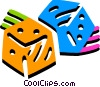 Colorful dice Vector Clip Art picture