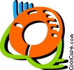 Colorful life preserver Vector Clip Art picture