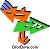 Vector Clip Art graphic  of a Colorful arrows