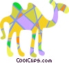 Colorful camel Vector Clip Art picture