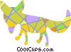 Colorful Fox Vector Clipart image