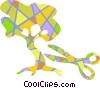 Colorful bonsai tree Vector Clip Art picture