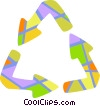 Colorful recycle symbol Vector Clipart picture