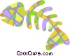 Vector Clipart picture  of a Colorful fish bones