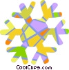 Colorful snowflake Vector Clip Art picture