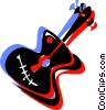 Vector Clip Art image  of an Acoustic guitar