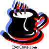 Hot cup of coffee Vector Clip Art graphic