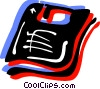 Vector Clip Art image  of a Computer diskette