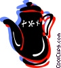 Vector Clip Art picture  of a Colorful teapot