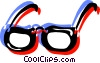Colorful eyeglasses Vector Clipart picture