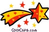 Shooting star Vector Clipart graphic
