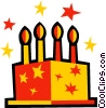Vector Clip Art image  of a Birthday cake