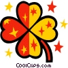 Vector Clipart illustration  of a Colorful clover