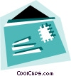 Opened envelope Vector Clipart illustration