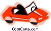 Vector Clip Art image  of a Convertible car