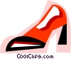 Vector Clip Art image  of a High heel dress shoe