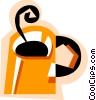 Hot cup of coffee Vector Clip Art picture