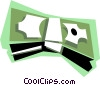 Wrapped dollar bills Vector Clipart picture