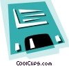 Vector Clipart picture  of a Computer diskette