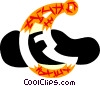 Vector Clip Art graphic  of a The moon with night cap