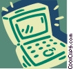 Vector Clipart illustration  of a Notebook Computer