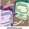 Networking concept Vector Clip Art picture