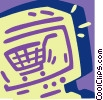 Vector Clip Art graphic  of a On-line shopping concept