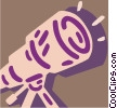 Powerful telescope Vector Clipart graphic