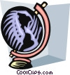 Vector Clip Art graphic  of a Spinning globe