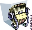 Vector Clip Art graphic  of a Colorful rolodex