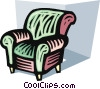 Living room chair Vector Clip Art image