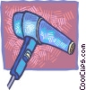 Vector Clipart graphic  of a Hair Dryers or Blow Dryers