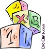 Vector Clip Art image  of a Child's building blocks