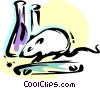 Vector Clipart graphic  of a Rat on treadmill with test