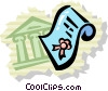 Vector Clip Art image  of a Mortgage and Loans