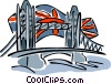 The Tower bridge Vector Clipart picture