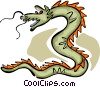 Vector Clip Art picture  of a Chinese dragon