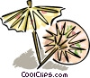 Asian umbrellas Vector Clip Art graphic
