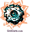 Vector Clipart illustration  of a Colorful gear