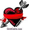 Heart and arrow Vector Clipart illustration