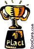 1st place trophy Vector Clipart picture