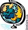 Colorful globe Vector Clip Art picture