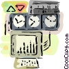 Factory Meters Vector Clipart picture