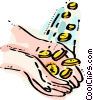 washing hands with money Vector Clip Art picture