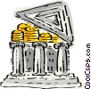 bank filled with money Vector Clipart image