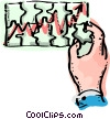 Man putting puzzle together of chart Vector Clip Art picture