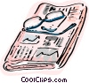 Newspaper and reading glasses Vector Clip Art image