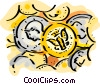 Lots of change Vector Clip Art image